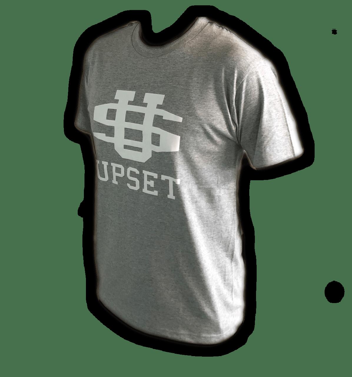 UPSET BIGロゴコットンTシャツ(GRAY)